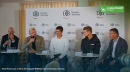 Becker Visits Inaugural Challenger In Ismaning