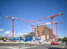 WOLFF Cranes shape Munich's cityscape of the future