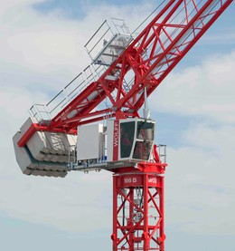 WOLFFKRAN presents the WOLFF 166 B US hydraulic luffing jib crane at Conexpo 2020