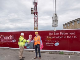 WOLFFKRAN wins new customer Churchill Retirement Living and delivers four WOLFF 133 B tower cranes to its Plant Services division